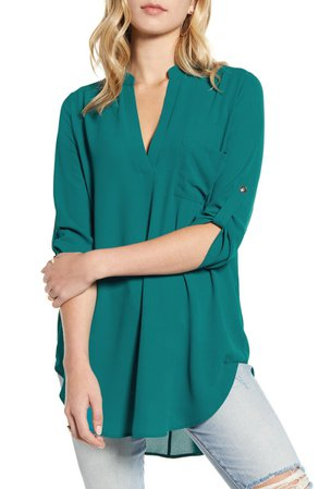 All in Favor Perfect Henley Tunic | Nordstrom