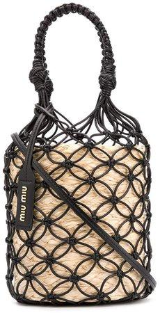 Mesh Straw Bucket Bag