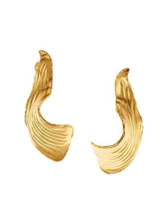 Oscar De La Renta, Molten Leaf Earrings