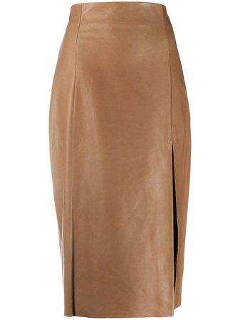 Drome Front Slit High Waist Skirt - Farfetch