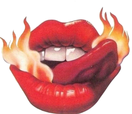 fire lips art