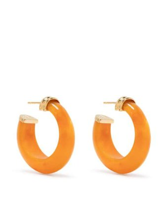 Gas Bijoux Abalone hoop earrings - FARFETCH