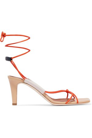 Malone Souliers   + Roksanda Camila 70 leather sandals   NET-A-PORTER.COM