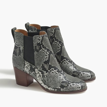 J.Crew Factory: Snakeskin-print Rory Heeled Boots For Women