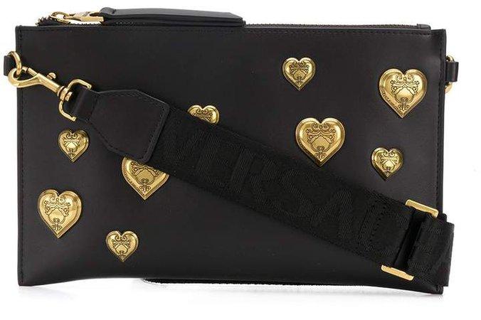 hearts clutch bag