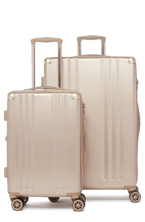 CALPAK Calpak Ambeur 2-Piece Spinner Luggage Set - Gold