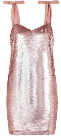 Sequined Tulle Mini Dress