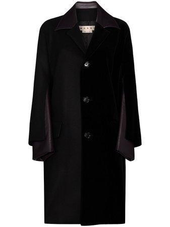 Marni, faux-leather Panelled Coat