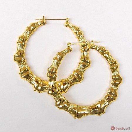 Bamboo Hoop Earrings (90's Black Girl Aesthetics)