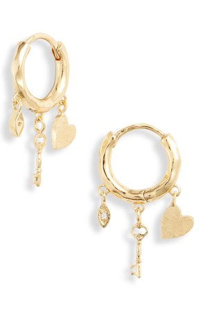 gorjana Love Charm Huggie Earrings | Nordstrom