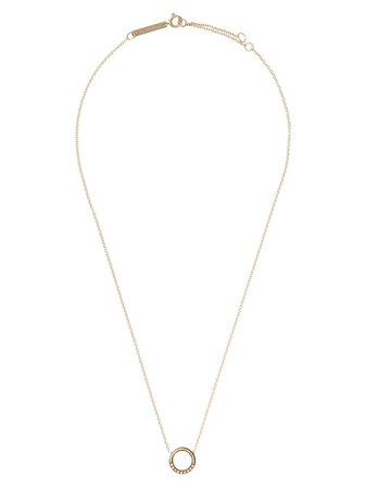Zoë Chicco 14kt Yellow Gold Diamond Circle Pendant Necklace - Farfetch