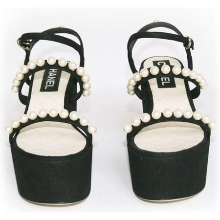 Chanel Platform Pearl Sandals