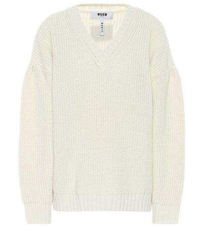 MSGM - Wool-blend sweater | Mytheresa