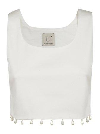 LAutre Chose Embellished Hem Detail Tank Top