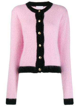 Chiara Ferragni Black Trim Knitted Cardigan Aw19 | Farfetch.com