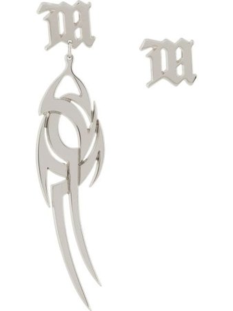 MISBHV logo pendant earrings with Express Delivery - Farfetch