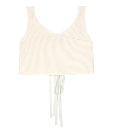 Drew cotton and silk-blend top