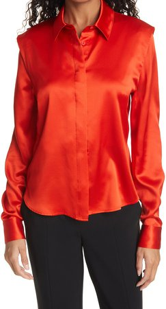 Melina Silk Button-Up Blouse