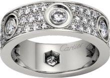 CRN4210400 - LOVE ring, diamond-paved - White gold, diamonds - Cartier