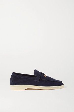 Summer Charms Walk Suede Loafers - Navy