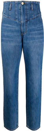 Denim High Waisted Tapered Jeans