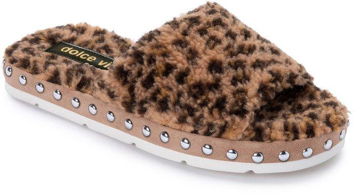 Faux Fur Platform Slide Slipper