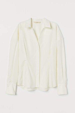 Silk-blend Shirt - White
