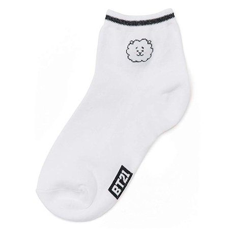 BT21 Official BTS Merchandise by Line Friends - RJ 2-Packs Cute Cotton Socks for Women (Designed by Bangtan Boys) at Amazon Women's Clothing store: