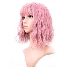 pink wig bangs - Google Search