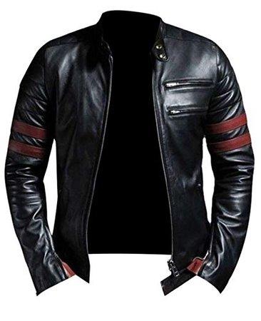 Mariyam Leather Mens Lambskin Bomber Bkier Leather Jacket at Amazon Men's Clothing store:
