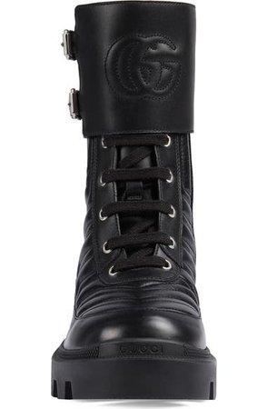 Gucci Frances GG Matelassé Platform Combat Boot (Women) | Nordstrom