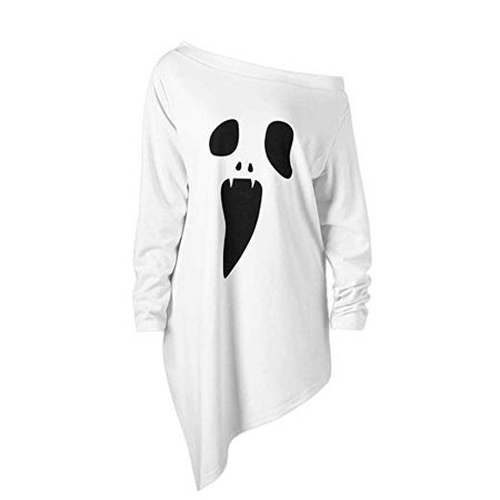 ghost pullover dress white
