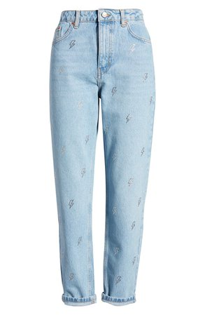 Topshop Bleach Lightening Mom Jeans | Nordstrom