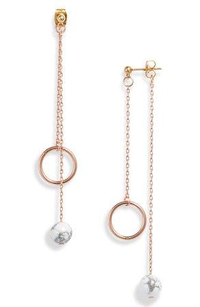 Rose gold hoops | Nordstrom