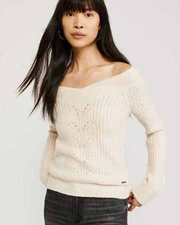 Women's Off The Shoulder Sweater | Women's Clearance | Abercrombie.com
