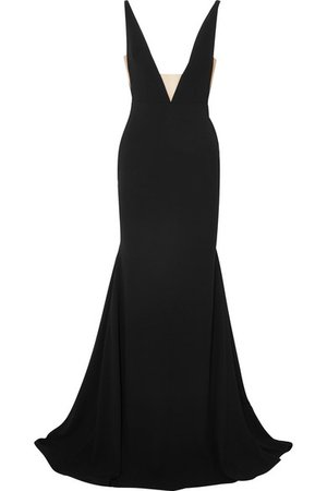 Alex Perry | Ada tulle-trimmed crepe gown | NET-A-PORTER.COM