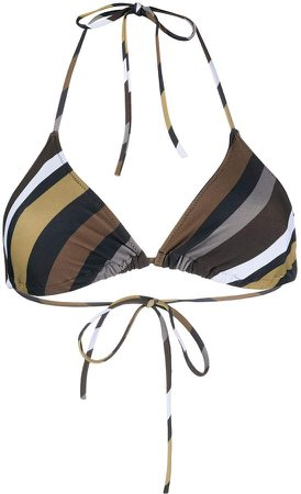 striped triangular bikini top