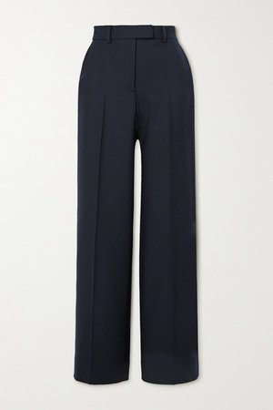 Terrence Twill Straight-leg Pants - Navy