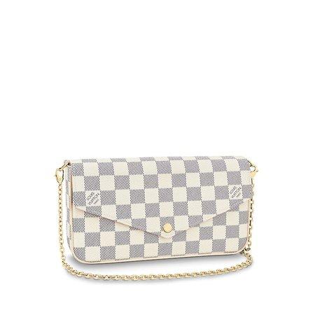 Pochette Felicie Damier Azur Canvas - Small Leather Goods | LOUIS VUITTON ®