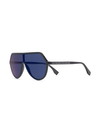 Fendi Eyewear Roma Amor Oversized Sunglasses - Farfetch