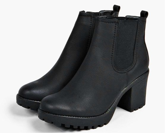 Black Chunky Boots