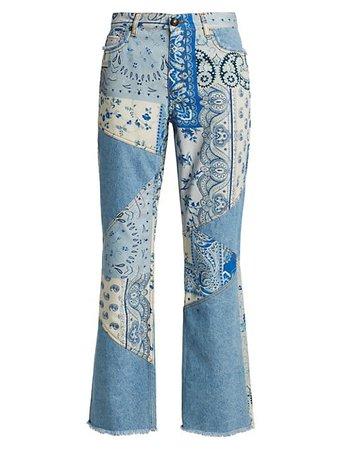 Etro Ibiza Paisley Patchwork Jeans | SaksFifthAvenue