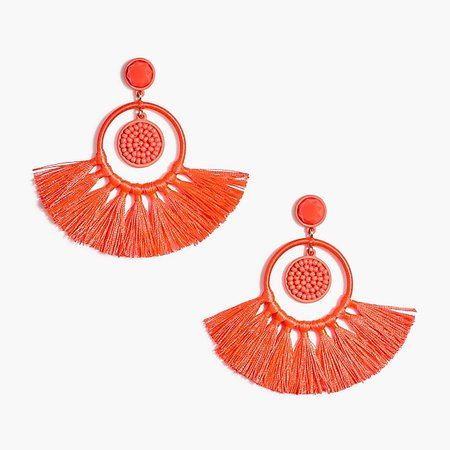 J.Crew Factory: Beaded tassel earrings