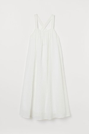 A-line Cotton Dress - White