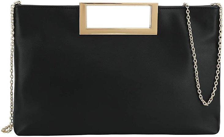 Charming Tailor Fashion PU Leather Handbag Stylish Women Convertible Clutch Purse (Black): Handbags: Amazon.com