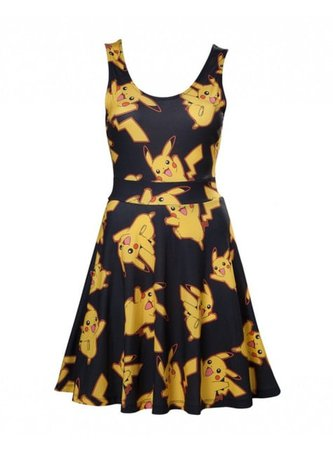 Black Pikachu dress for women for true fans | Funidelia