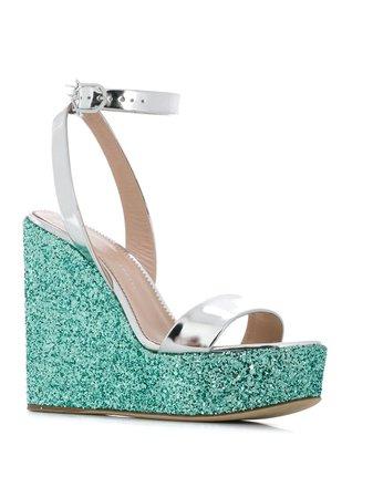Giuseppe Zanotti Glitter Wedge Sandals