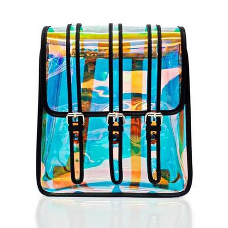 Current Mood Transparent Rainbow Backpack