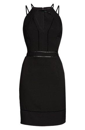 Adelyn Rae Sanai Keyhole Minidress black
