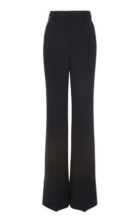 High-Rise Wide-Leg Mohair Wool Pants by Prada | Moda Operandi